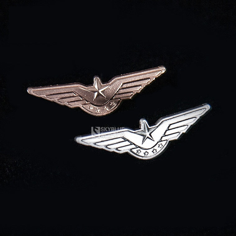 New Arrival Vintage CAAC Flight Badge Mini Medal Pin, Bronze / Silver Color,  Gift for Pilot Aviation Lovers Traverlers
