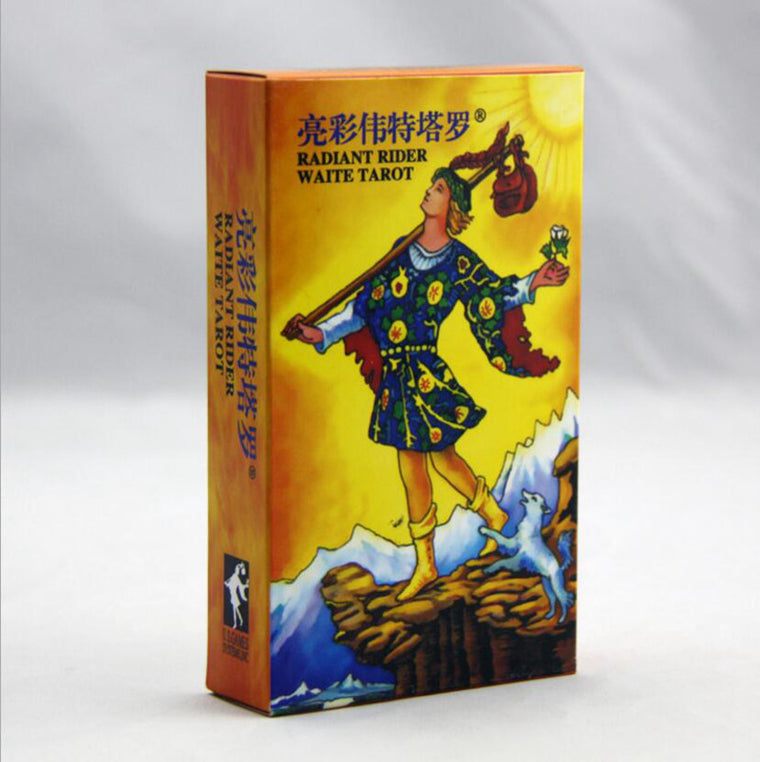 Radiant Rider-Waite Tarot Cards Full English Factory Made High Quality Rider WaiteTarot Cards Game, Board Game