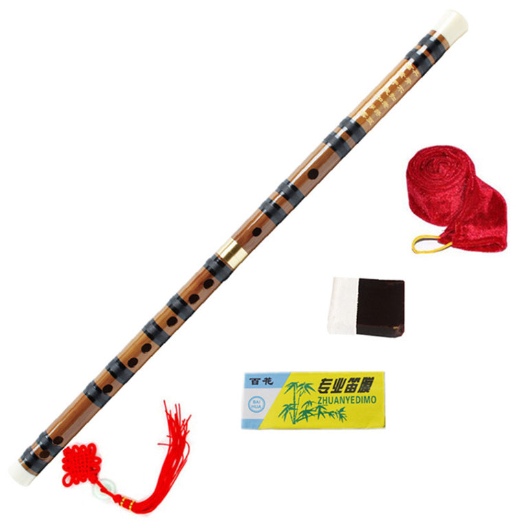 Chinese Bamboo Flute Brass Joints Key of C/D/E/F/G Woodwind Musical Instruments Hot sell Dizi Pan Flauta with all Accessories