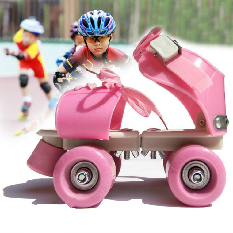 New Children Roller Skates Double Row 4 Wheel Skating Shoes Adjustable Size Sliding Slalom Inline Skates Kids Gifts