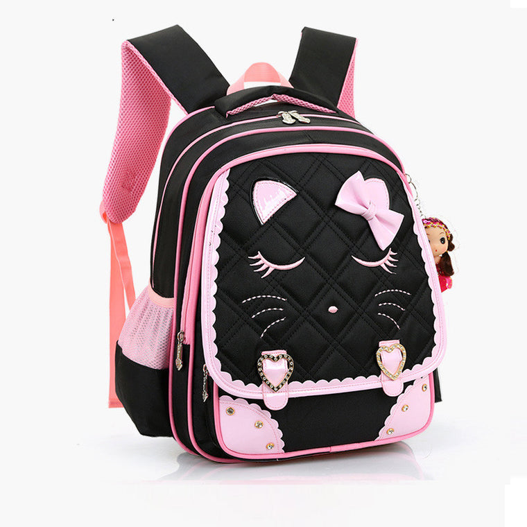 Children backpacks waterproof girl orthopedic school bag cartoon Kids School  Bags Printing Backpacks Bow Book Bag 956b652497bb4