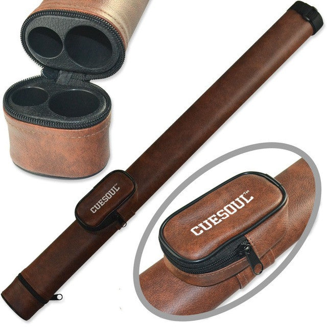 Two Tone Pool Cue Tube Case 1 Butt 1 Shaft Billiard Cue Canister Pool Cue Case
