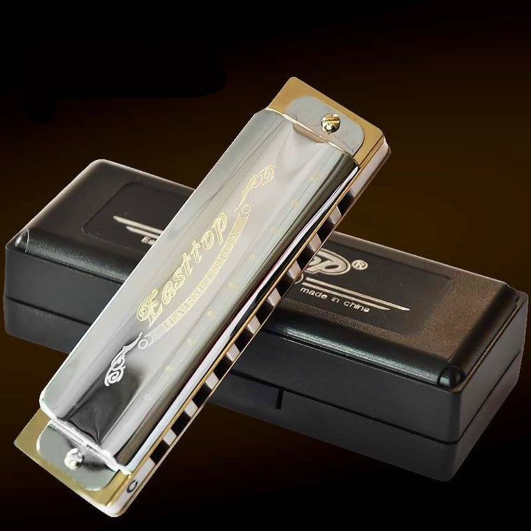 Easttop10 Hole Diatonic Harmonica ABS Comb Blues ArmonicaMusical Instruments Instrumento Harmonica C Key Mouth Ogan Harmonica