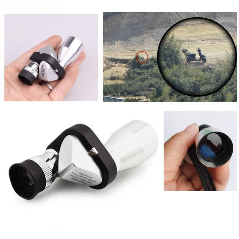 Mini portable 8x18 HD Corner Optical Monocular Telescope Eyepiece for Outdoor Hiking Climbing Wilderness Expedition