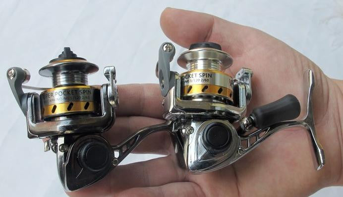 Mini spinning fishing reel,metal body,4.3:1,150g,free shipping