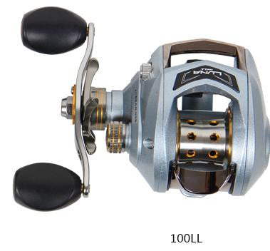 Haibo LUNA100/150 left/right handed baitcasting fishing reel 6.5:1 6B+1RB 178g magnetic brake free shipping