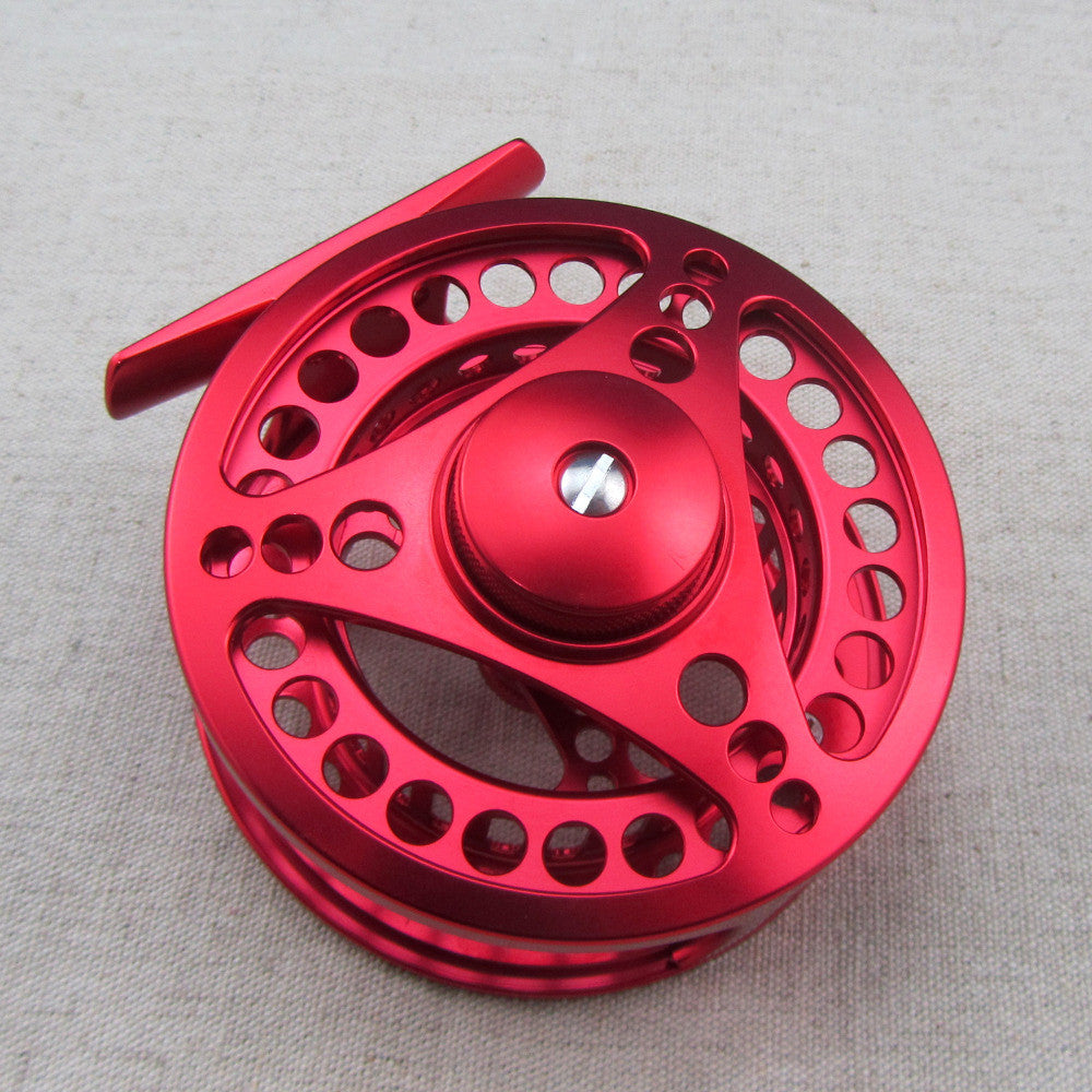 5/6 CNC Machined Aluminum Fly Fishing Reel Large Arbor Left and Right Handed Changeable Disc Drag System Reel Diameter 85mm