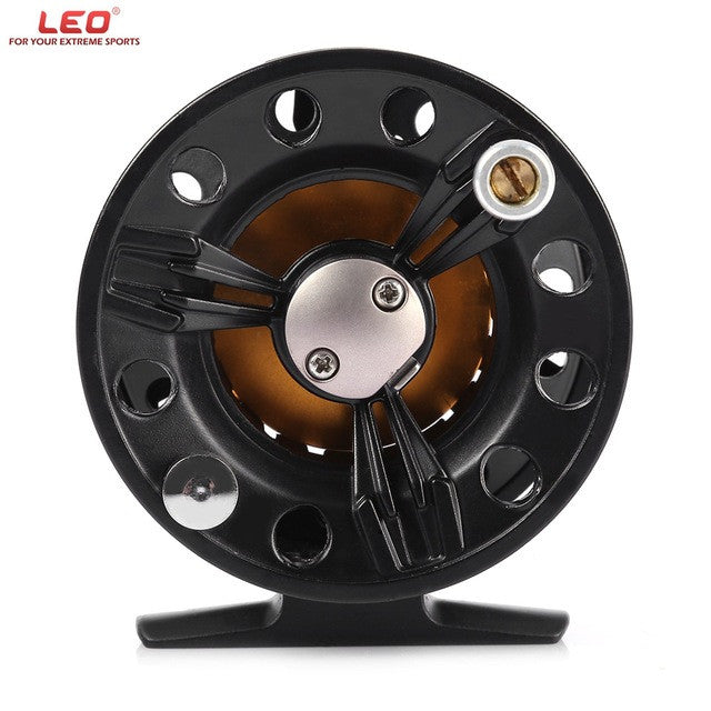 Professional Left Right Interchangeable Fishing Reel LEO FB75 Full Metal Fly Fish Reel Black Former Rafting Ice Fishing Wheel