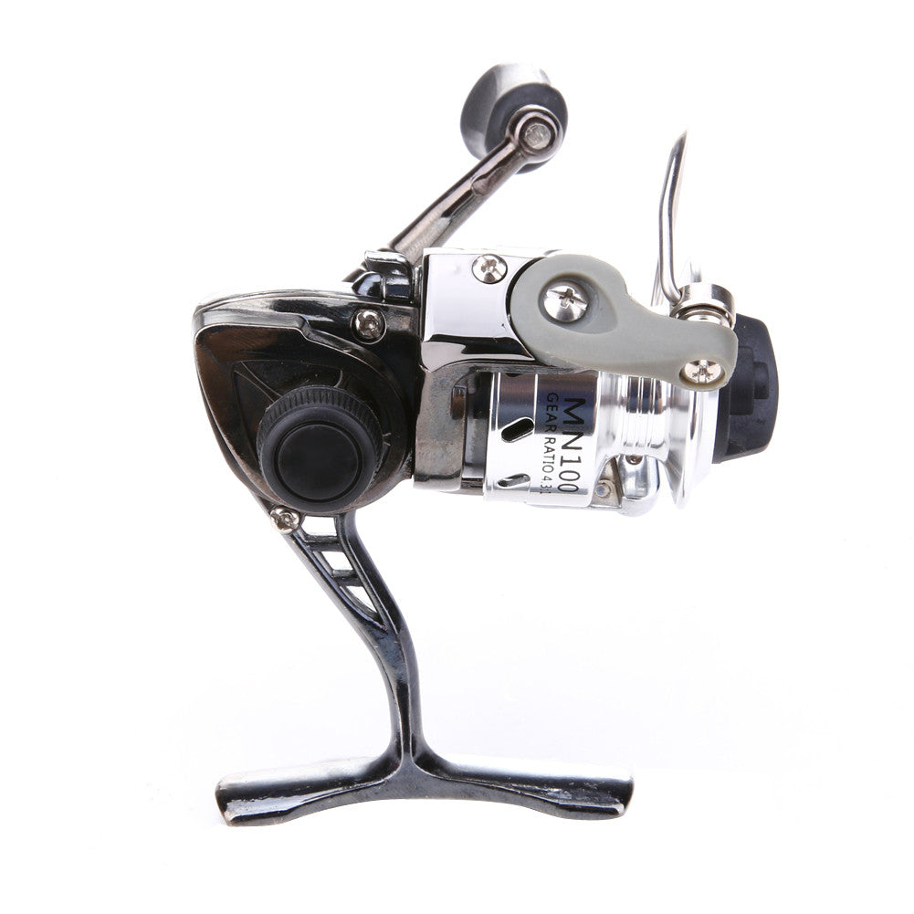 Gear Ratio 4.3:1 Ice Fishing Mini Pole Line Spinning Reels Metal Steel Lightweight Portable Bait Casting ISP