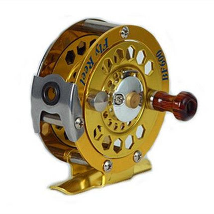 1pc Top Quality Fishing Reel  Glod color Fly Reel 3/4# 5/6# 7/8# 146g Fly Fishing Wheel Diameter 60mm/80mm/100mm
