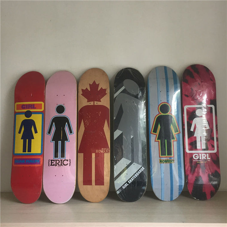 "Skateboard Decks 7.5"" Canadian Maple Skateboards Boards With Scratched Graphics"