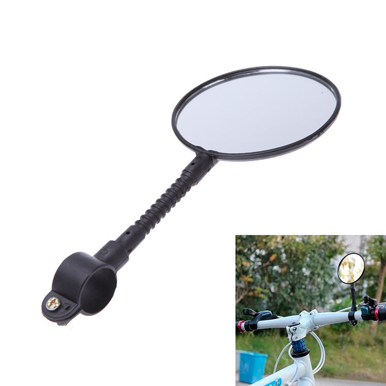 Usefuil Bike Bicycle Cycling Rear View Mirror Handlebar Glass Flexible Safety Rearview