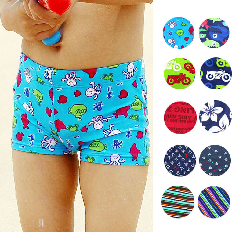 new baby boys  Swimwear Cartoon design printing cute kids Swimsuit for summer beach natatorium