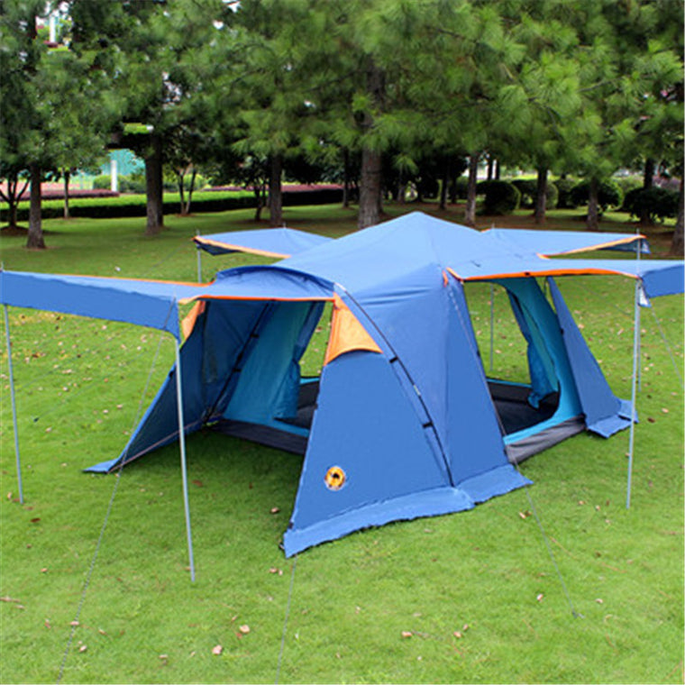 Camel 3-4 person large family tent camping tent sun shelter gazebo beach tent for Advertising/exhibition