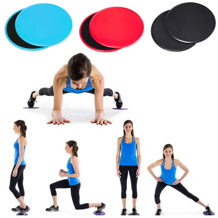 2pcs Fitness Gliders Slide Discs Core Ab Round Triangle Disc Workout Gym Body Exercise Training Slimming Abdominal Slide Pad