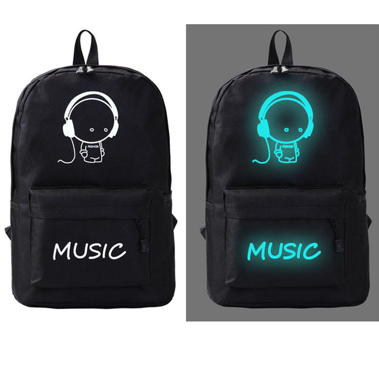 Outdoor Safety Reflective Backpack Galaxy Luminous Cartoon Printing Canvas Backpack Girl & Boy School Sports Bags for Teenagers