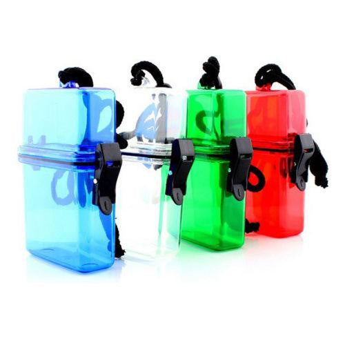 Outdoor Swim Waterproof Plastic Container Storage Case Key Money Box Card Holder Color Random