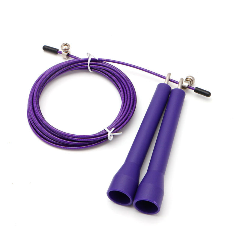 3m Adjustable Steel Skipping Jump Rope Skip Cable Wire Speed Fitness Sport New