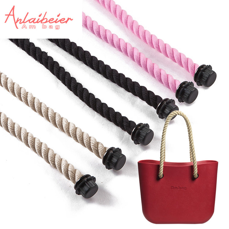 1 pair long short  hemp rope handle for Obag AMbag handle 70cm 40cm for O BAG women handbag EVA bag