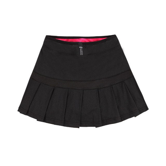 LANBAOSI Women's Tennis Skirts Badminton Volleyball Running Cheering Beach Sports Skorts High Waist Pleated Boufancy Short Dress