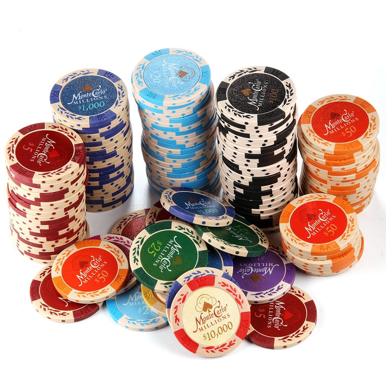25PCS/Lot Wheat Dollar Casino Coins Texas Hold'em Clay Poker Chips Baccarat Upscale Set Pokerstars14g Color Crown