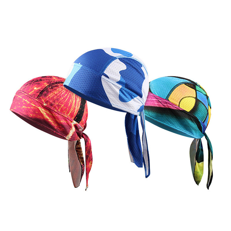 Breathable Multi Function Man Women Bike Bicycle Hat Headscarf Cycling Cap Bandana Hood MTB Headband Printing Pirate Head Scarf