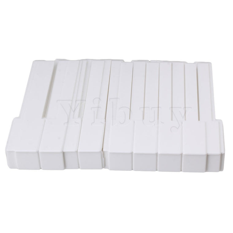 Yibuy Abs Plastic Piano Keytops Kit Replacement Piano Key
