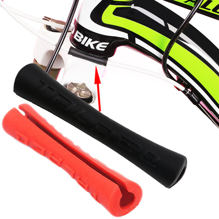 4pcs Bike Brake Frame Shift Housing Covers Protector Bicycle Cable Sleeve AL