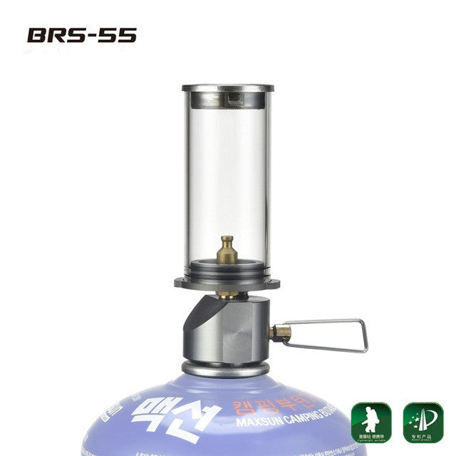 BRS Ourdoor Camping Tent Candle Lamp Portable Light Gas Lighting Camping Lamp Tent Gas Camp Lamp