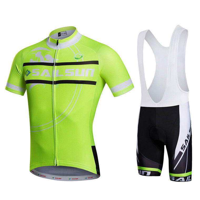HOT SAIL SUN Green Men bike Jersey or Cycling Bib Shorts Pro MTB  Clothing  Male team ropa  Bicycle Sportswear Top wear