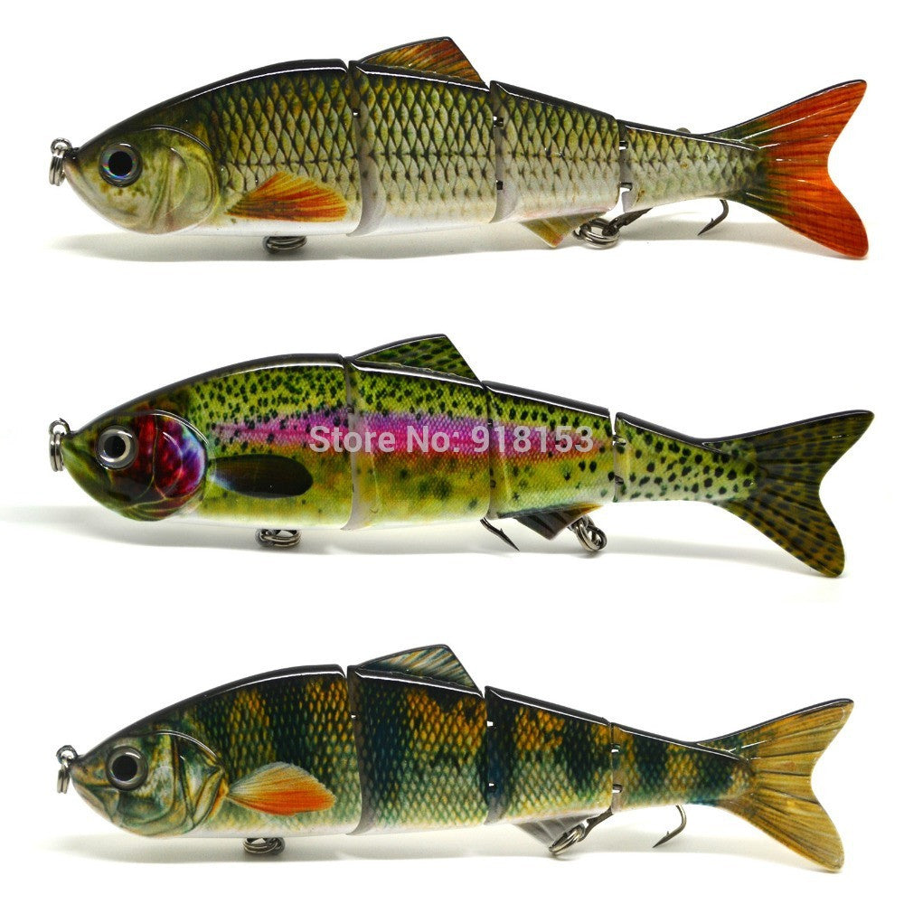 15cm Multi Jointed Fishing Lure Bait Swim Bait Life-like Minnow Shad for Bass Pike Fishing NEW