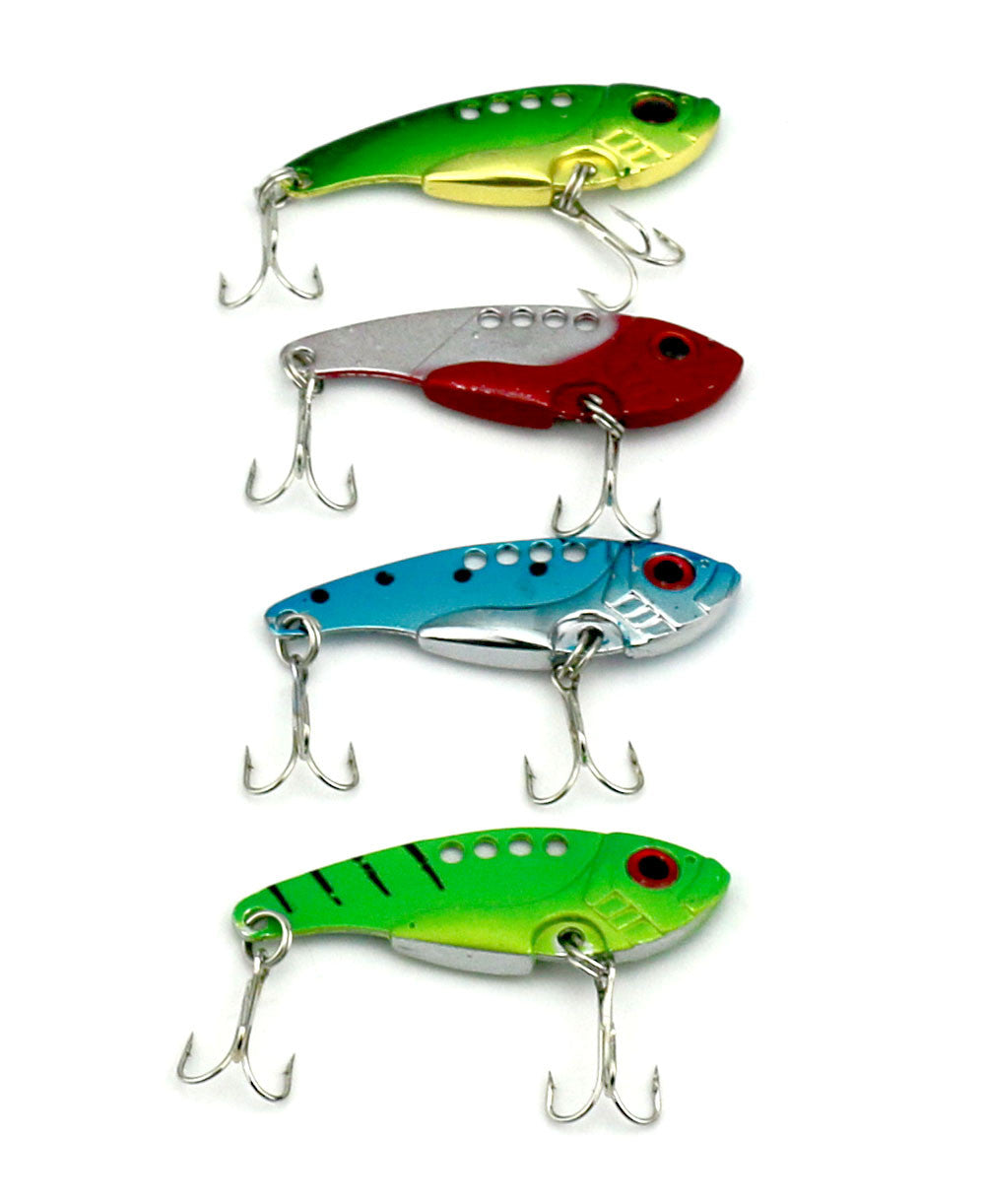 HENGJIA 20pcs Metal Vibration Hard VIB Fishing Lures 5.5CM 11G Isca Artificial Fishing Tackle Blade Sinking Lures