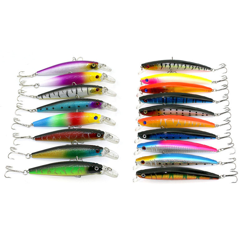 18pcs Fishing Lure Set Mixed Colors 11.5cm/11.2g Minnow +11cm/15.2g Baits With Tail Origin China