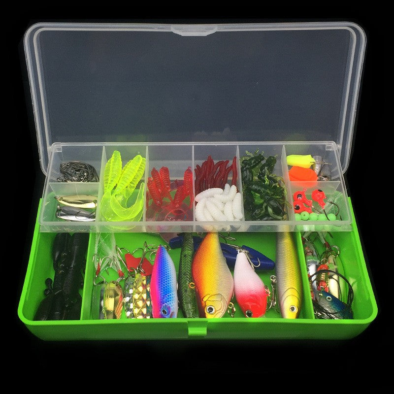 101pcs/set Multifunction Lure Kit Set Spinner Crankbait VIB Paillette Soft Hard Spoon Crank Baits Fishing Hooks Plier Pesca