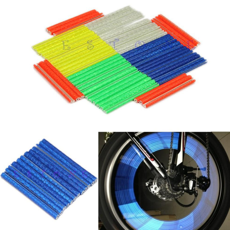 12pcs Bike Riding Bicycle Wheel Spoke Reflector Reflective Mount Warning Light hot
