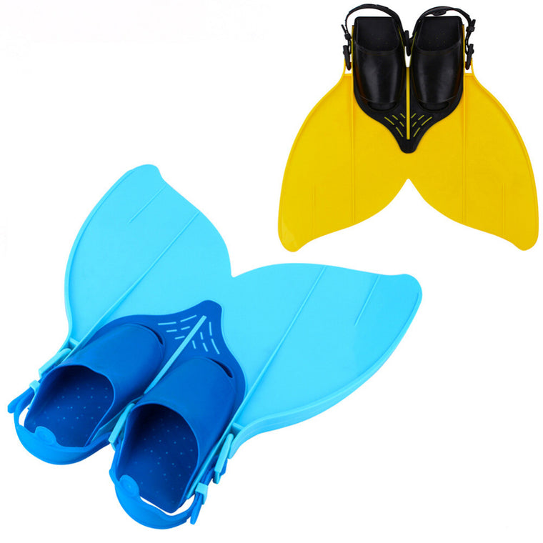 Soft Silicone Swimming Fins Adjustable Mermaid Flipper Monofin Diving Tail Feet kids swimming Shoes Teens Youth Swim Training