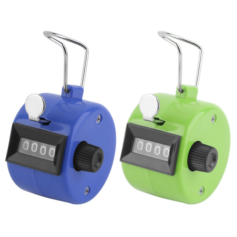 New Arrival Digital Chrome Hand Tally Clicker/Counter 4 Digit Number Clicker Golf hot selling