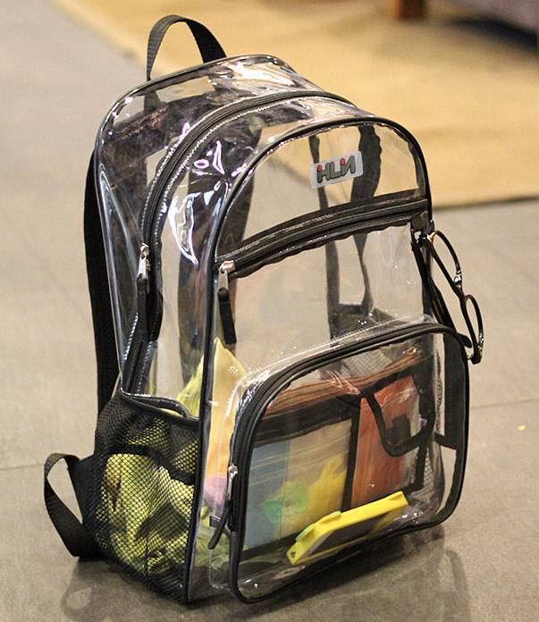 Stylish Waterproof Transparent PVC Backpacks Korean Men Beach Bag Female Student Backpack Women bolsas femininas couro mochila