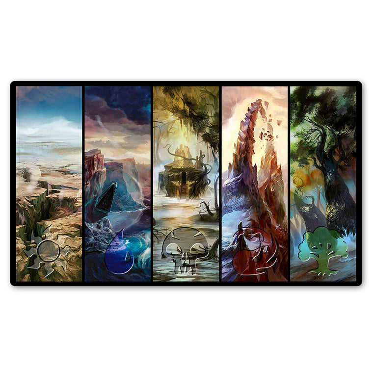( Battle for Zendikar Playmat) Magic Playmat, Board Games Table Pad Gathering Lands,Custom MTG Lands Playmat with Free Gift Bag
