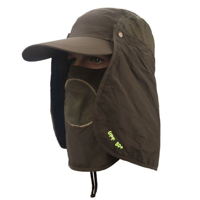 Fishing Suns Anti UV Cap Headband Protection Face Neck Flap Sun Rain Hat Cap Fishing Hiking