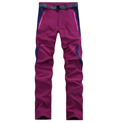 Outdoor Hiking Pants Women Summer Trekking Pants Women Softshell Waterproof Hiking Trousers Sport Camping Quick Dry Hiking Pants