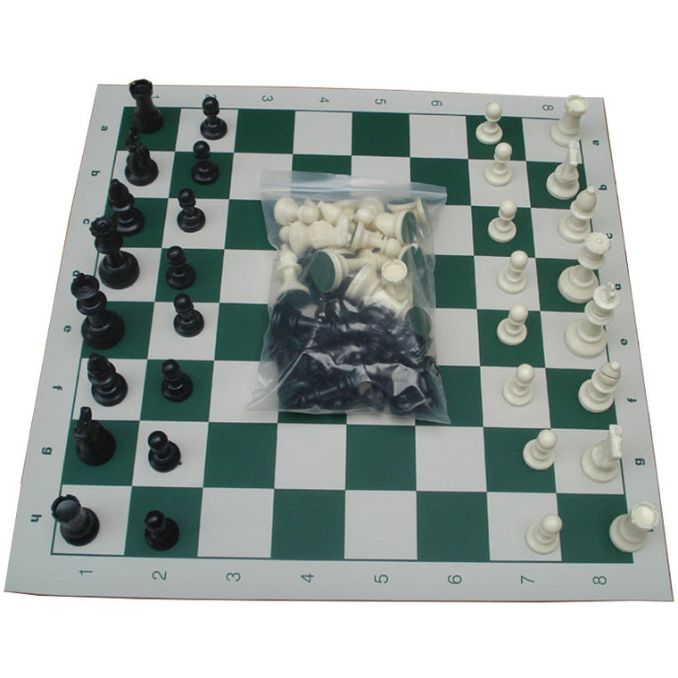 Size M Chess Game Set Pieces Plastic with International Chess Board 43x43cm Chessman King 77mm(3.03in) ajedrez Toys Table Games