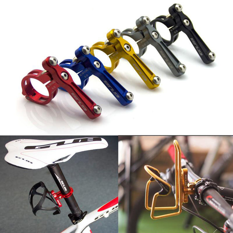 Road bicycle Water Bottle Cage Mount Holder, Anodised Alloy MTB Bike Handlebar rack bracket Seat Post 5 colors 42g
