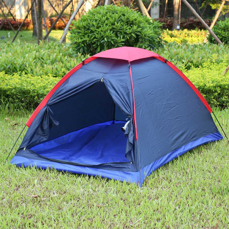 double people Outdoor camping tent Kit fiberglass Pole Nylon waterproof Tents Kit suitable camping hiking outdoor fun sp