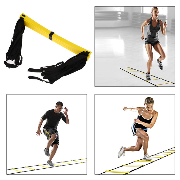 Durable 9 rung 16.5 Feet 5M Agility Ladder for Soccer Speed Ladder Training fitness equipment ladder Outdoor Fitness Equipment