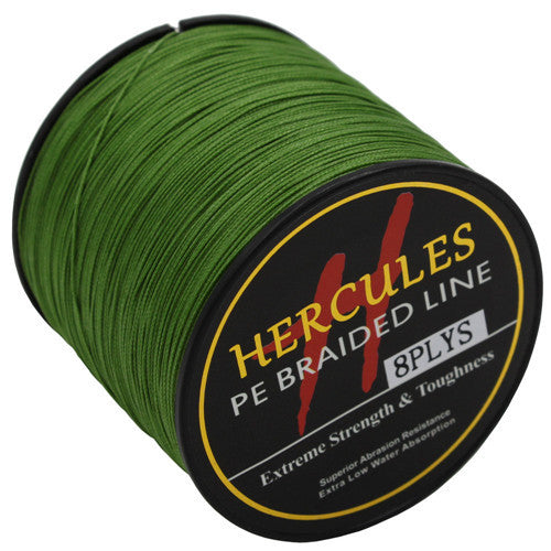 8 Strands 300M Hercules PE Braided Fishing Line Sea Saltwater Fishing Weave Extreme Super Strong 100% Super Power