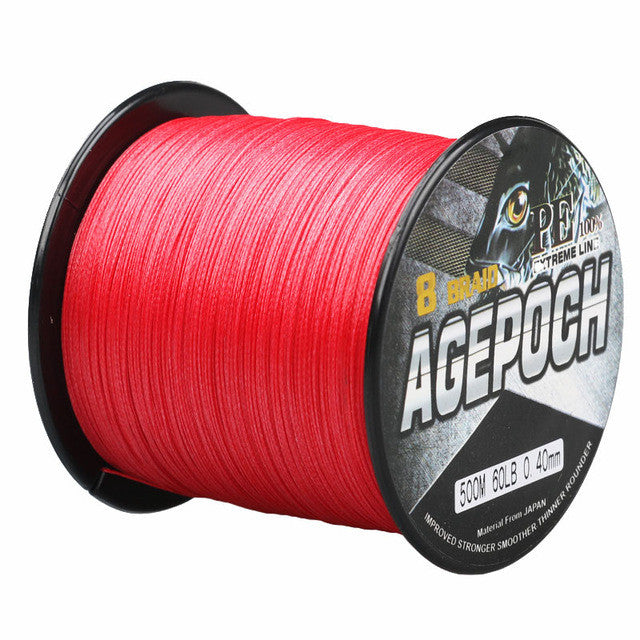 Strong Top Quality 8 Strands 500M Multifilament PE Braided Fishing Line Fishing Wire Braided Fishing Line 6-80LB for Sea Fishing