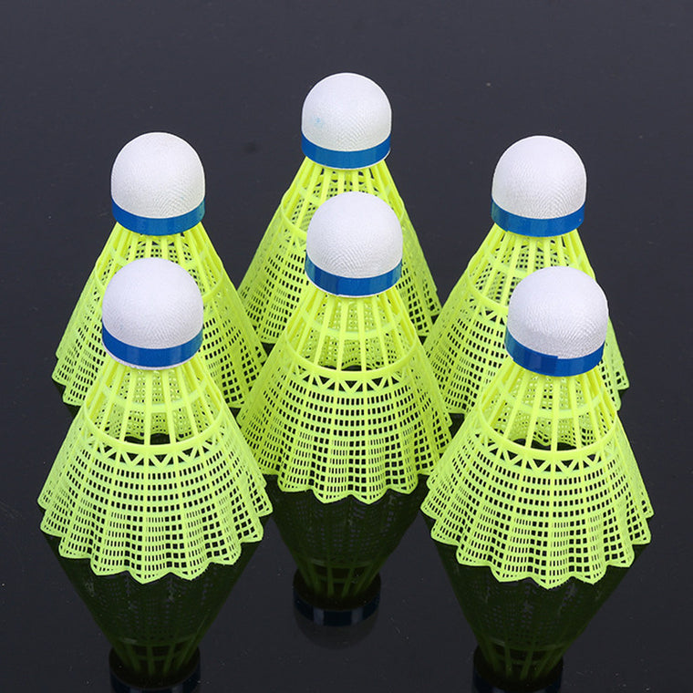 Nylon Shuttlecocks Light Professional Badminton Ball 6Pcs Outdoor Sports Practice Accessories Durable Nylon Badminton Balls L435