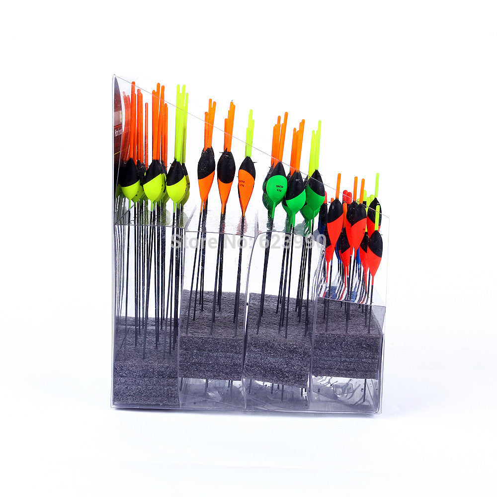 100pcs/Box 0.15g 0.2g 0.3g 0.4g 0.5g 0.75g Wood Buoyage Marine Fishing Light Stick Floats Wholesale&Retail
