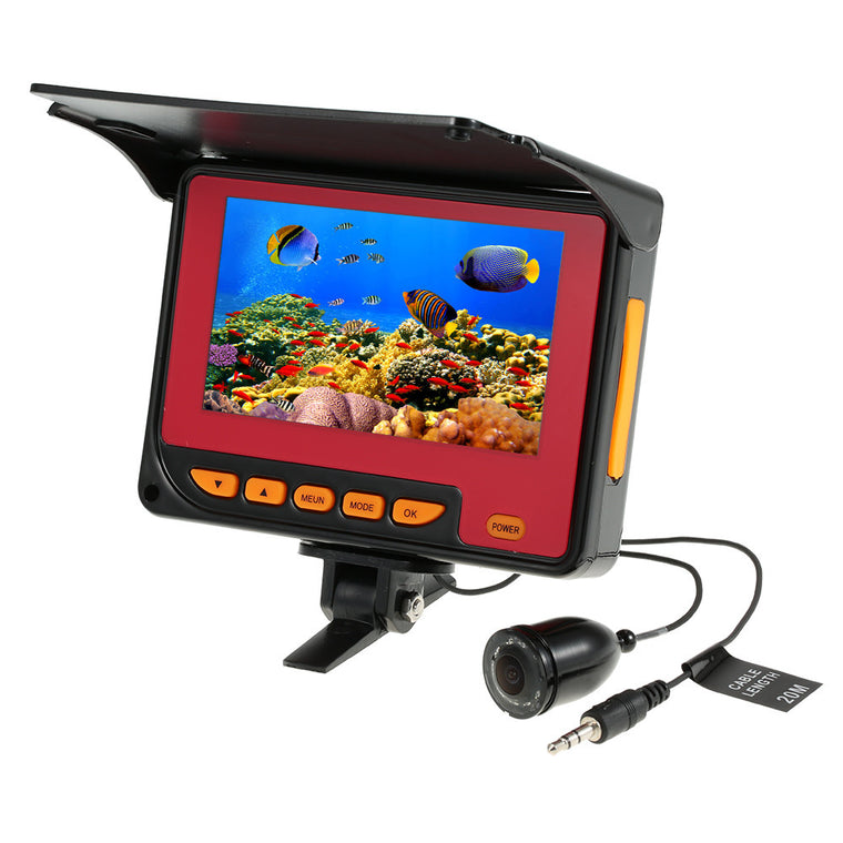 1000TVL Underwater Camera Fishing Finder Video Fish Finder 4.3 inch LCD Monitor 20m Cable HD IR LED Visual Camera 150 Degree